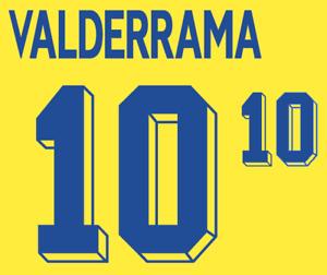 Colombia Valderrama Nameset 1998 Shirt Soccer Number Letter Heat Print Football