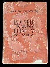 BOOK Historic Polish Textile & Embroidery tapestry weaving POLAND Persian carpet