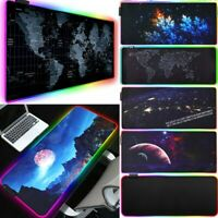 Oversized LED Lighting Colorful RGB Gaming Mouse Pad Keyboard Mat for PC Laptop