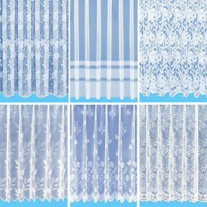 Cheap Decorative New Choice of Net Curtains - Sold by The Metre - Free Postage