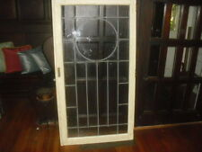 Antique leaded glass window door No cracks or chips in window