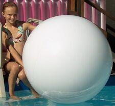 "48"" WINTER WHITE Inflatable Beach Ball BIG Glossy Vinyl Balloon Bubble Pool Toy"