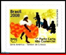 3036 BRAZIL 2008 DANCE AND MUSICIANS, UPAEP, AMERICA ISSUE, MUSIC, FOLKLORE, MNH