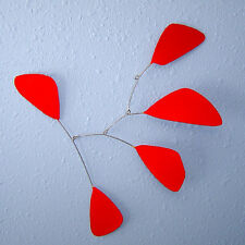 Abstract Modern Splash Red Hanging Mobile Painted Steel New Free Shipping Gift