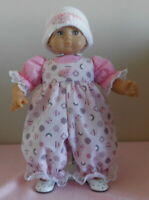 American Girl Doll Clothes Pink Circles Romper Fits Bitty Baby/Berenguer 15-17