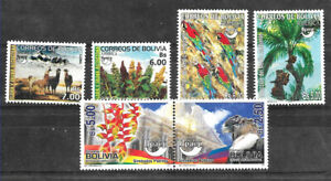 #1701 BOLIVIA UPAEP YEARS 2003+04+10 FAUNA,BIRDS FLORA,TREE,FLAG,3 SETS MNH