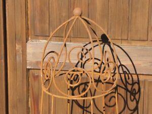 Edelrost Rankhilfe Lercara aus Metall Rankhilfe Blumengitter Rosengitter