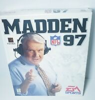MADDEN 97 NFL Football Game PC 1996 Video Game Vtg Big Box CIB ~ NEW SEALED