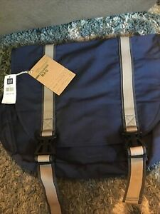 GAP Street Courier Bag New With Tags Blue Backpack Satchel Student Traveler Bag