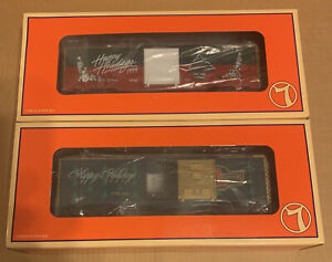 2-lionel Christmas Boxcars(1998-99) O Gauge New In Original Box