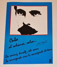 Political OSPAAAL Solidarity Original 1992 Cuban POSTER.Jose Marti poem.History