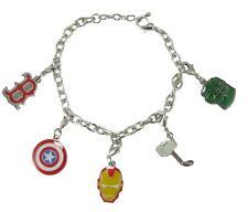 Boston Red Sox Marvel Avengers Silver Red Charm Bracelet Girls Womens Jewelry