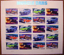American Muscle Cars US Stamps USA Dodge Pontiac Shelby Chevelle Plymouth Unused