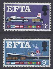 1967 GB QEII EFTA (PHOSPHOR) MINT SET OF 2 MUH/MNH SG715p SG716p