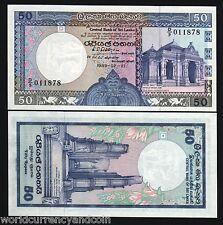SRI LANKA 50 RUPEES P98 1989 KELANIYA TEMPLE POLOMANUWA UNC CEYLON CURRENCY NOTE
