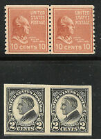 Select Group of 5 Different US MNH OG Key Horizontal Imperforate & Coil Pairs