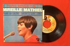MIREILLE MATHIEU PARIS BRULE T'IL BARCLAY 71083 LANGUETTE VG++ VINYLE 45T EP