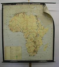 Schulwandkarte Wandkarte Karte Afrika Africa Bergbau Industrie 159x176 1965 map