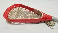 "Vintage Brine SUPERLIGHT II Red Lacrosse Head w Brine Wave Aluminum-36"" Nice!"