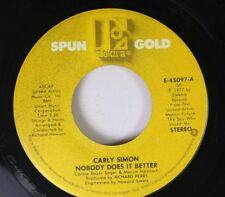 Pop 45 Carly Simon - Nobody Does It Better / You Belong To Me On Elektra