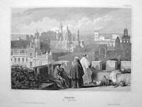 SPAIN City of Jerez Xeres - 1855 Engraving Antique Print
