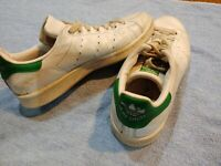 Adidas Stan Smith Men's Originals - White and Green Leather  Size US 7