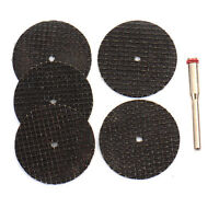5PCS Emery Accessories Diamond Discs Blades Cutting Mandrel