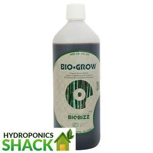 BIOBIZZ Grow Organic Veg Stage Nutrient Supplement 5 & 10 Litre Hydroponics