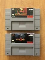 Mortal Kombat 1 & 2  Lot of Super Nintendo Games Authentic Tested Working SNES