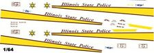 Illinois State Police 1/64th HO Scale Slot Car Waterslide Decals
