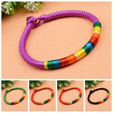 Multicolor Braided Woven Thread Friendship Handmade Rope Bracelet Ankle String