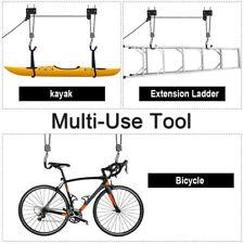 Kayak Hoist Bike Lift Garage Ceiling Storage Rack Ladders Bicycle Car Canoe