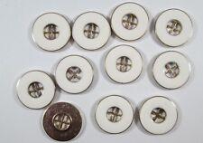 6 Stück Metallknöpfe Knopf Knöpfe 20 mm anthrazit NEU rostfrei 0268