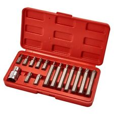 "Amtech 15pc 1/2"" Metric Torque Torx Star Drive Socket Bit Set & Storage Case"