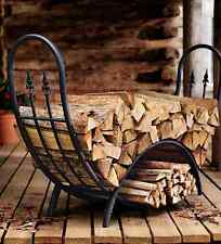 Wood Log Holder Rack Inch Firewood Storage Steel Tubular Round