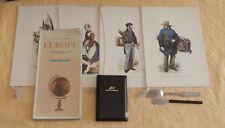lot Air France : porte cigares + 2 couverts + 1 carte 1967 + 4 porte menus 1984