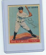 1933 GOUDEY LOU GEHRIG NO 160 AUTOGRAPH SIGNED ROOKIE RC REPRINT YANKEES