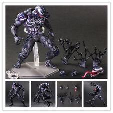 "10"" PVC Marvel Universe Play Arts Kai Venom Action Figure Toys Statue Gifts"