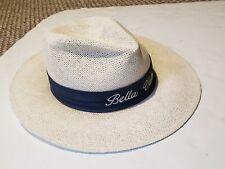 Vtg Kangol Bella Vista  Wide Brim Band Straw Fedora Hat USA