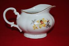M Z Czechoslovakia Porcelain Cream Jug Floral design and Gilt rim