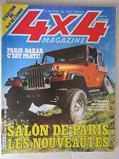4X4 MAGAZINE N° 41 /PARIS-DAKAR/ARO 10-1400/JEEP moteur RANGE ROVER