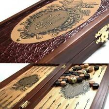 Tryzub Small Travel Luxury Backgammon Set Leather Pieces Tournament Board Game