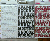 ROLLER RINK THICKER Sticker 25 mm High Letter & Number - 2 Colour Choice L3