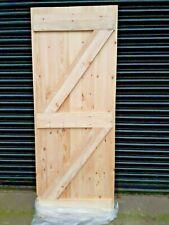 Solid Boarded Wooden Ledge /& Brace Exterior Outbuilding Garage or Shed Door
