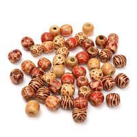 50Pcs Wooden Dreadlock Hair Beads Braid Pins Rings Cuff Clips Tibetan Jewelry
