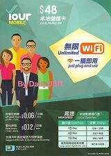 PCCW/CSL HKT HONG KONG SIM CARD FREE WIFI CHEAP INTERNET DATA PLAN YOURMOBILE
