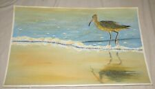 Long-billed Curlew Original Watercolour by D.F. Greer 30 x 19 inches - Mickaboo