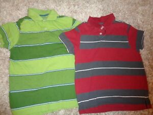 Lot of 2 Boy's polo shirts by Arizona Size Small Red and Green