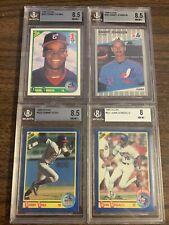Lot Of 4 BGS Graded Baseball Rookie Cards Frank Thomas Randy Johnson Sammy Sosa