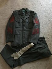 "WWII pattern Korean war USMC Marine ""A Forest Green wool uniform Gy/Sgt"